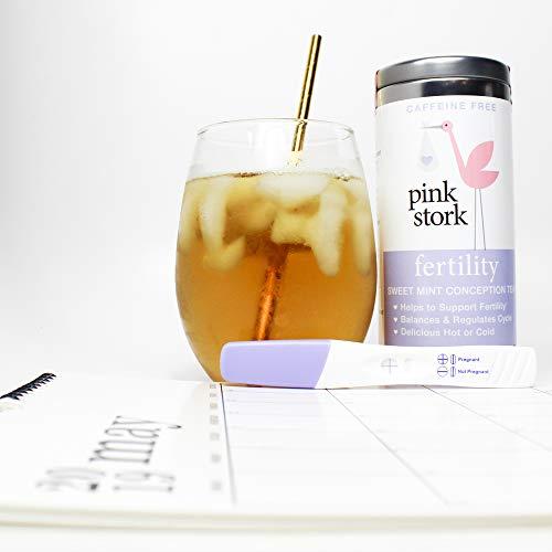 Pink Stork Fertility Tea: Sweet Mint Tea, USDA Organic Loose Leaf in  Biodegradable Sachets, Hormone Balance, and Cycle Regulation -Support  Fertility