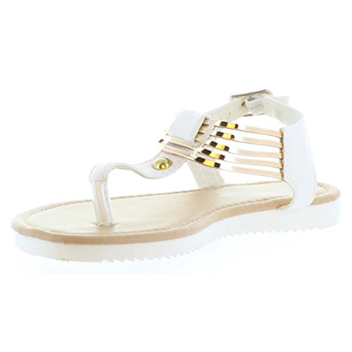 Sandales pour Fille URBAN B127060-B4600 WHITE-GOLD