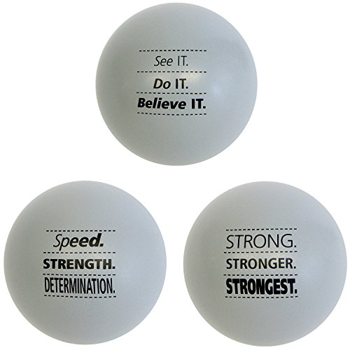 Teacher Peach Motivational Stress Ball Assortment, 3 Pack, Stress Relief Toys for Kids and Adults (4 Colors Available)