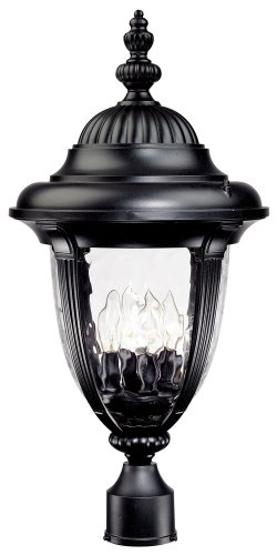 Bellagio Collection 24 1/2″ High Black Outdoor Post Light For Sale