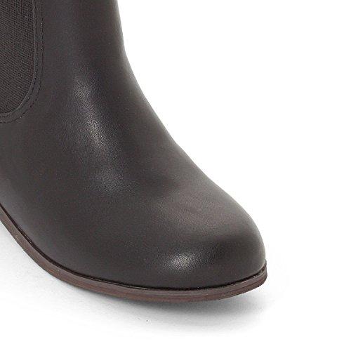 La Redoute Collections Boots, Aufgestickte Blume, Gr. 2839 Schwarz