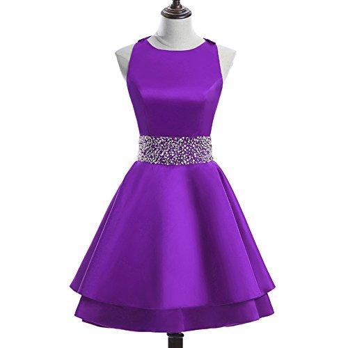 611bbbbb648 Short Crew Dresses MEILISAY Sequiuned Dresses Womens Prom Cocktail Mini  Homecoming Purple Beading Dresses qZwr5XfWw ...