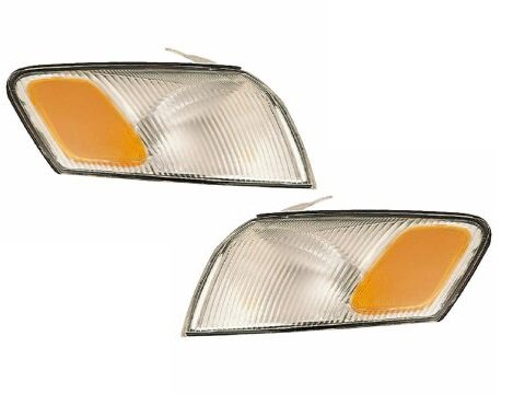 Headlights Depot Replacement for Toyota Camry Signal Lamps OE Style Replacement Driver/Passenger Pair New HeadlightsDepot TO2530126 TO2531126