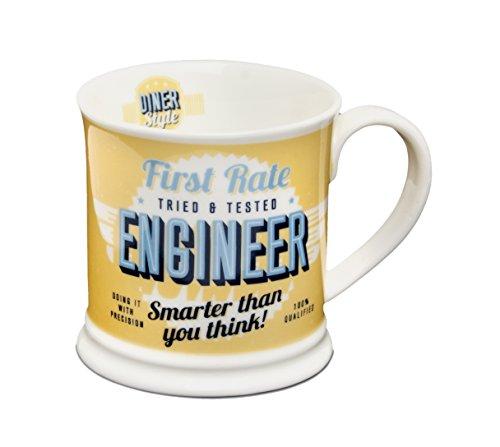 "Diner Mugs ref:050 195000050""Engineer"" Mug, Yolk"