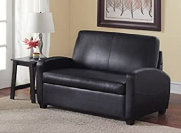 sofa sleeper convertible couch loveseat chair recliner futon black twin bed guest - Loveseat Recliners