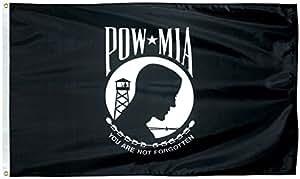 POW-MIA bandera 3x 5pies SolarMax Nylon Doble Cara
