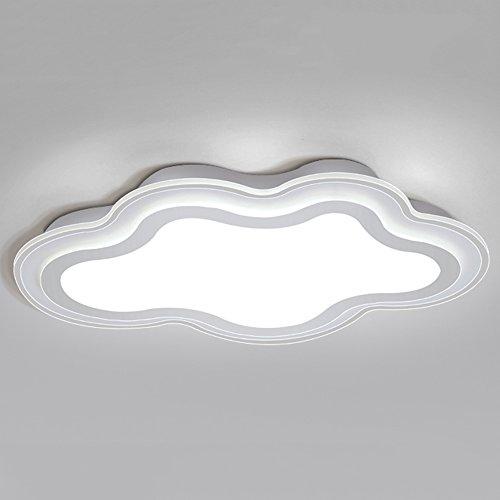 QFFL xidingdeng Chandelier Simple Ceiling Light Cloud Bedroom Light Children's Room Lights Modern Minimalist Acrylic Ceiling Light 60407cm (Color : Monochrome White Light)