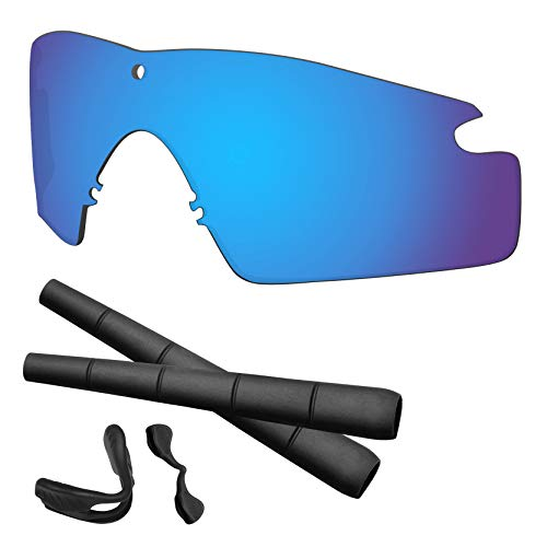Predrox Blue Mirror Si M Frame 2.0 Lenses & Rubber Kits Replacement for Oakley ()