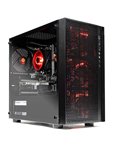 SkyTech Blaze - Gaming Computer PC Desktop - Ryzen 5 1600 6-Core 3.2 GHz, NVIDIA GeForce GTX 1050 Ti 4GB, 1TB HDD, 16GB DDR4, AC WiFi, Windows 10 Home 64-bit (16GB Version)