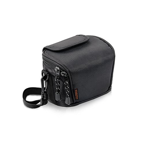 FOSOTO Camera Case Bag Compatible Nikon Coolpix L330 L340 L320 L310 L820 L810 L620, Canon POWERSHOT SX420 SX510 HS G1, Nikon J5 J3 S1 V2 V3,Panasonic Lumix LZ20 LZ30,Sony Video Camera - (Black)