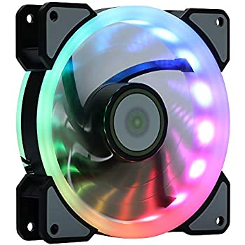 LEDdess Rainbow RGB LED 120mm Case Fan for PC Cases, CPU AIR Cooling (Single Rainbow Fan, 3pcs Fans Kit and 6pcs Fans kit Extension Accessories, A Series)