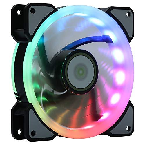 Cpu Cooler Leddess Rainbow Rgb Led 120mm Case Fan For Pc Cas