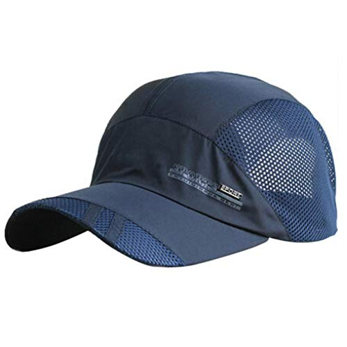 JINRMP Plain Mesh Snapback Baseball Cap Quick Drying Hats for Men Cotton Casual Caps Breathable Fitted Belt Adjustable Dad Hat