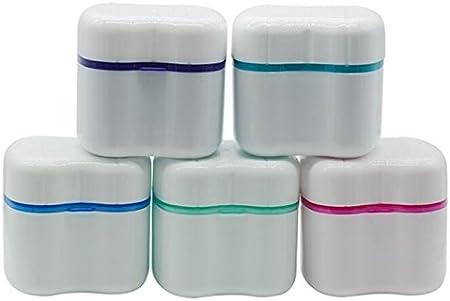 Linyena Viaje Cubierta De Plástico prótesis Dental con Cesta Dientes Falsi Dientes Recipiente Caja Taza Sellado de sciacquatrice: Amazon.es: Hogar