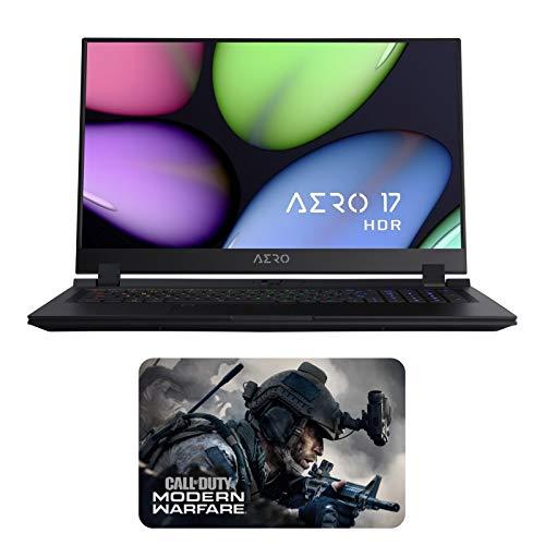 """نوت بوک سازندگان GIGABYTE AERO 17 HDR YA-9US4750SQ Enthusiast (i9-9980HK، 64 GB RAM، 4TB NVMe SSD، NVIDIA RTX 2080 8GB، 17.3 """"4K UHD HDR، Windows 10 Pro)"""