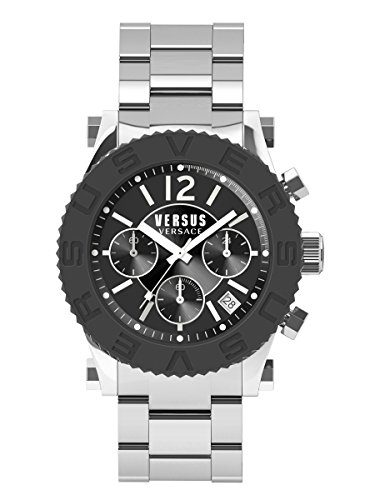 Versus by Versace Men's SOH020015 Madison Stainless Steel Bracelet Watch with Black Dial