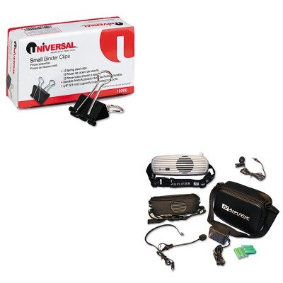 KITAPLS207UNV10200 - Value Kit - Amplivox BeltBlaster PRO Personal Waistband Amplifier (APLS207) and Universal Small Binder Clips - Amplivox Personal Amplifier