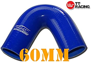 4-ply Silicone 135 Degree Elbow Connector Joiner Turbo Hose Pipe Blue 70mm 2.75 2-3//4
