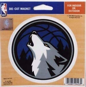 WinCraft NBA Minnesota Timberwolves Official 4.5x6 Car Magnet