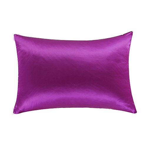 "OOSILK 100% Mulberry Silk Pillowcase for Hair King Size 20"" x 36"", 1pc ,King, Violet(Gift Wrap)"