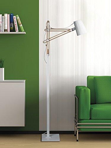 Mantra Lighting LOOKER3774 Floor Lamp, Small, White Aluminum by Mantra Lighting