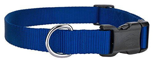 Scott - Adjustable Royal Blue Rib Nylon Dog Collar - Size: X-Large 18