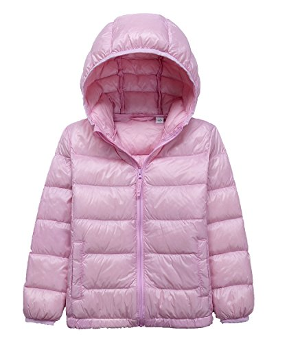 Jacket Girls Puffer Hooded (LANBAOSI Kid's Winter Lightweight Puffer Jacket Boy's Girl's Down Jacket)