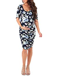 Women's Ruched Maternity Dress by Made In USA