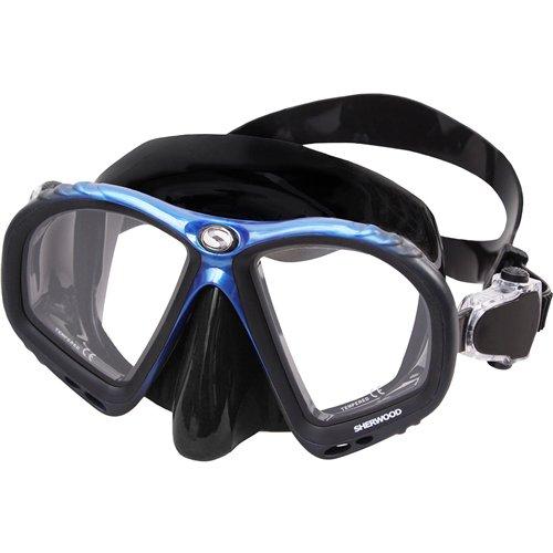 Sherwood Allure 2-Window Mask, Black/Blue