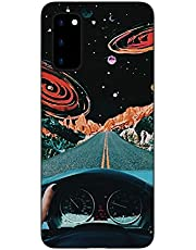 """Amocase Black TPU Matte Case with 2 in 1 Stylus for Samsung Galaxy S20 Plus 6.7"""",Stylish Artistic Design Soft Flexible Rubber Silicone Shockproof Anti-Scratch Back Case,Planet Street"""