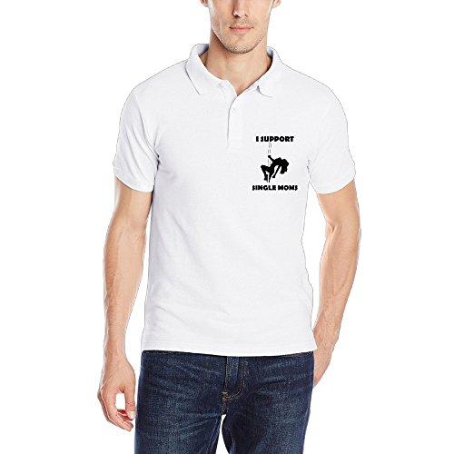 I Support Single Moms Special Design Men Polo Style L White