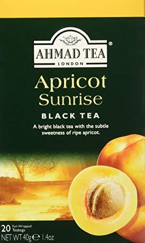 Ahmad Tea Apricot Sunrise , Tea Bags, 20-Count Boxes (Tea Apricot Decaf)