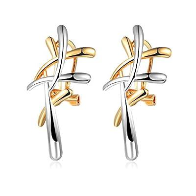 Beydodo Gold Plated Women Dangle Earrings Gold Silver Irregular Earrings Drop Valentines Gift for sale