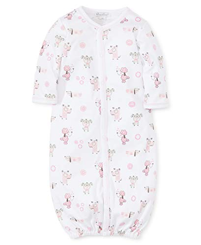 Kissy Kissy Baby-Girls Infant Puppy Park Print Convertible Gown-Pink-Small ()