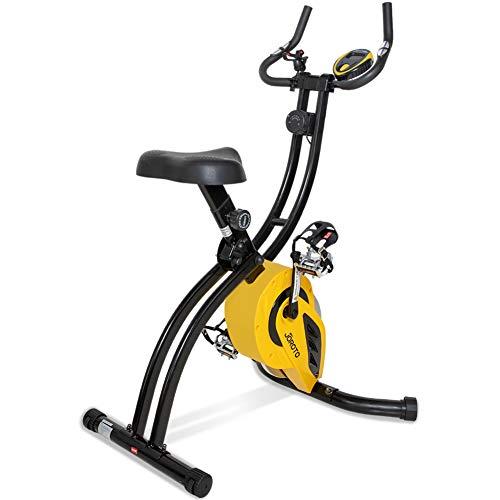JOROTO Folding Upright Exercise Bike Magnetic Stationary Bike with Phone Holder Pulse Sensor 16 Level Resistance – Sitting Standing