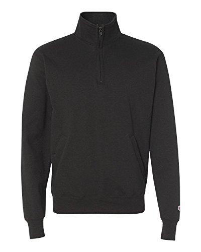 Champion Eco Fleece 1/4 Zip (Black, L)