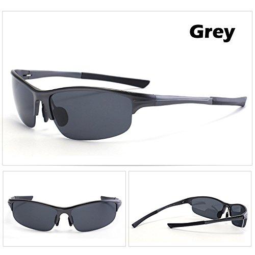 Grigio Gafas espejo Los UV400 macho verde magnesio gafas gafas gafas hombres de Estilo de TIANLIANG04 de macho Guía aluminio polarizado 4nzRzWxa