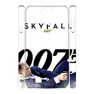 LSQDIY(R) James Bond 007 SamSung Galaxy S4 I9500 Personalized 3D Case, Customised SamSung Galaxy S4 I9500 3D Case James Bond 007