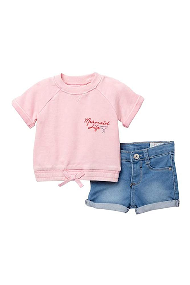 18 Months AG Adriano Goldschmied Overdyed French Terry Pullover /& Shorts Set