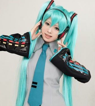 healthtop Vocaloid Miku Hatsune 120 cm Cosplay peluca dos ...