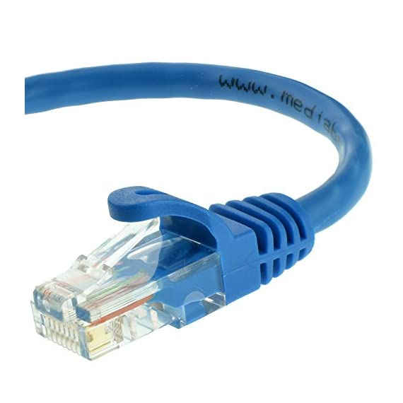 Mediabridge Ethernet Cable (10 Feet) - Supports Cat6 / Cat5e / Cat5 Standards, 550MHz, 10Gbps - RJ45 Computer Networking… 1 CAT6 / CAT5e: Supports both Cat6 and Cat5e applications. The RJ45 connector used for this cable fits perfectly in both Cat6 and Cat5e ports. CAPABILITY: Mediabridge Cat 6 cables can support up to 10 Gigabits per second (10 times the bandwidth of Cat5e cables). Meets or exceeds Category 6 performance in compliance with the TIA/EIA 568B.2 standard. Backwards compatible with any existing Fast Ethernet and Gigabit Ethernet. CERTIFIED: This Mediabridge Cat6 Ethernet cable with CM Grade PVC Jacket is UL Listed, complies with TIA/EIA 568B.2 and adheres to ISO/IEC 11801. APPLICATIONS: High bandwidth of up to 550 MHz guarantees high-speed data transfer for server applications, cloud computing, video surveillance and online high definition video streaming.