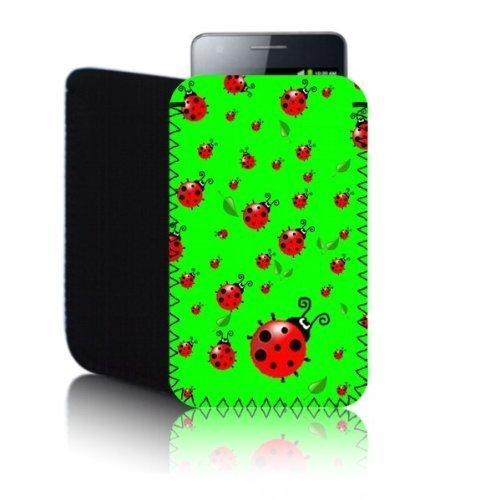 Biz-E-Bee Phonecase Exclusif 'Coccinelle' vert Apple iPhone 4/4S (S) résistant aux chocs en néoprène pour Téléphone portable, Housse, Pochette