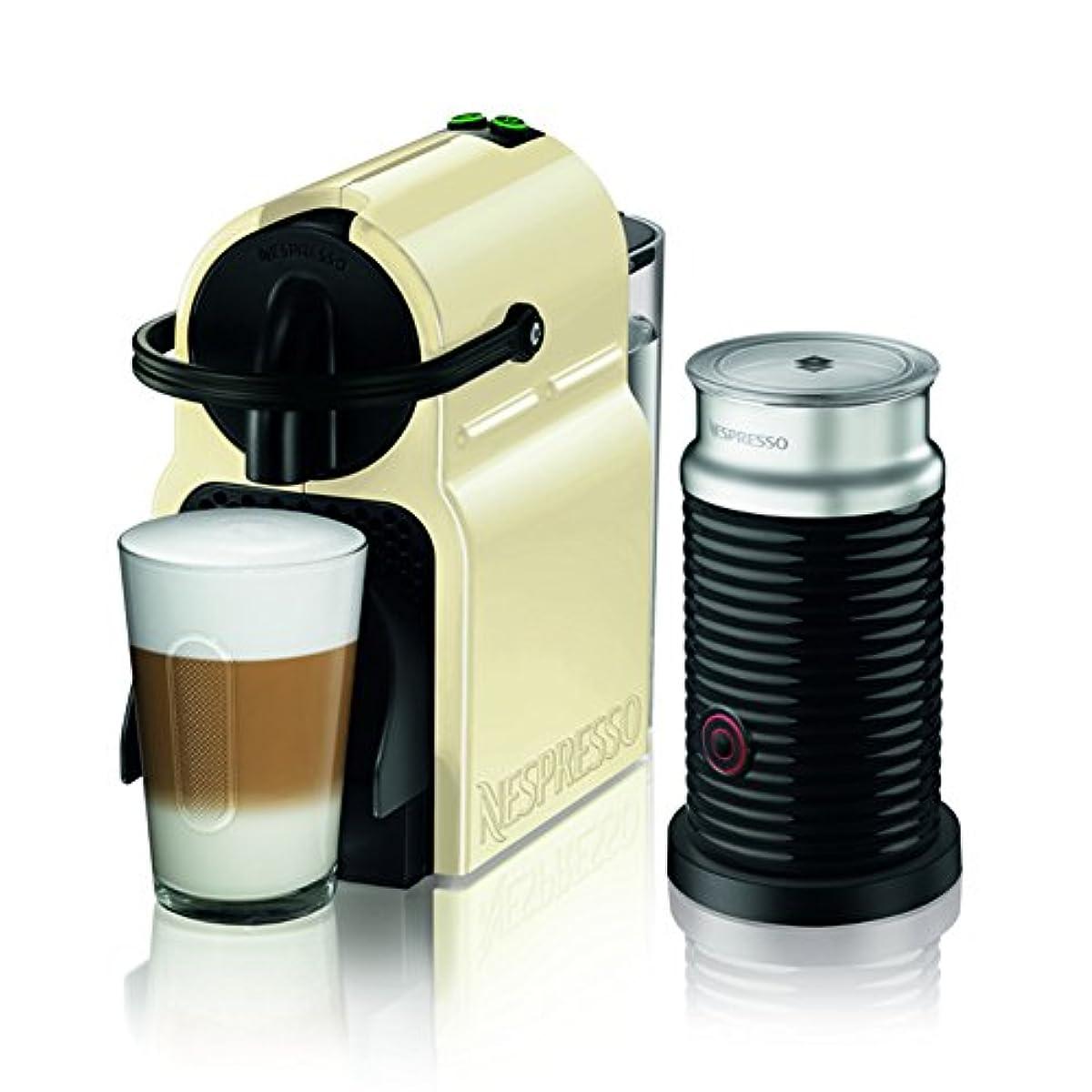 [해외] 네스프레소 커피 메이커 이닛시어 에어로 찌 노 세트 크림 D40CW-A3B