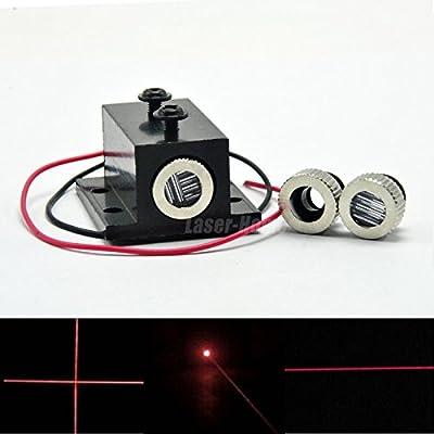 650nm 5mw Focusable Red Laser Dot Line Cross LED Diode Module w/Heatsink 12x35mm