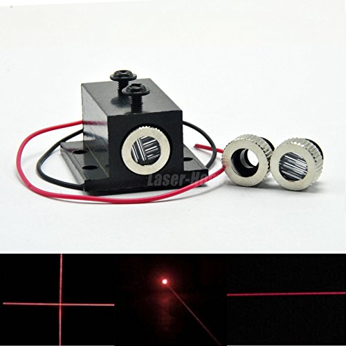 Price comparison product image 650-5 Focusable Red Laser Dot Line Cross LED Diode Module w/Heatsink 12x35mm