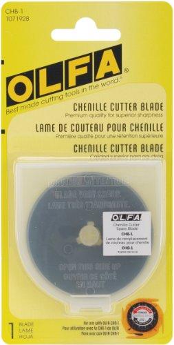 - OLFA 1071928 CHB-1 Chenille Cutter Ultra Sharp Black Blade, 1-Pack
