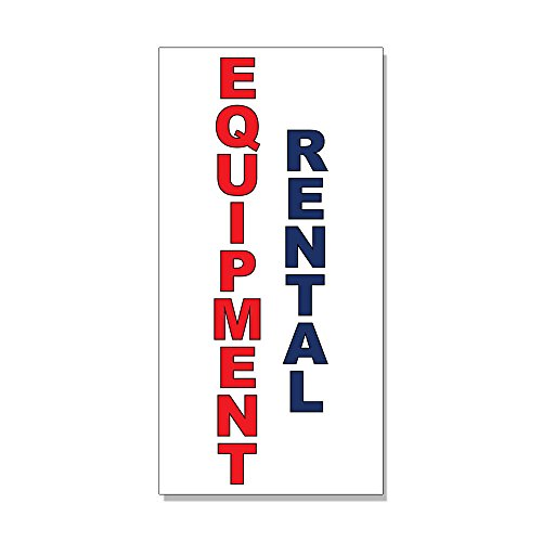 Equipment Rental Red Blue DECAL STICKER Retail Store Sign Sticks to Any Surface