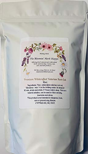 (Wildcrafted Premium Valerian Root Cut | 16oz 1lb | The Bloomin Herb Shoppe White Label Herbs | Valeriana Officinalis | Fresh Aromatic Bulk |)