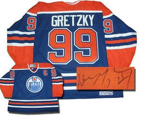 newest a0091 a2c46 Wayne Gretzky Signed Edmonton Oilers Road Blue Jersey at ...