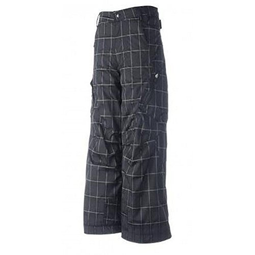 Obermeyer Boys Rewind Pants Ebony Plaid 14 by Obermeyer
